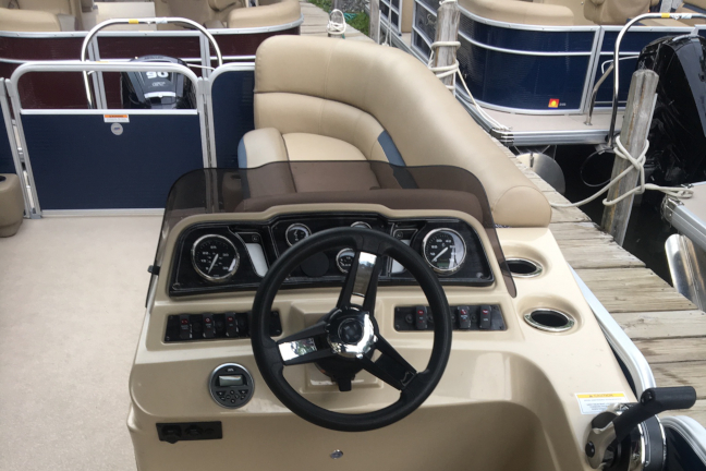 Picture of a 22 foot pontoon boat